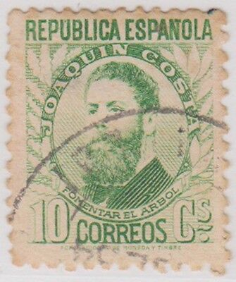 Stamp(SP110) 1931 Spain 10c Green ow741