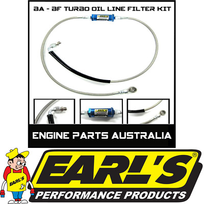 Ford Xr6 Ba Bf Fpv F6 Typhoon Turbo Oil Filter & S/s Braided Line Kit Earls