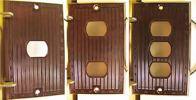 Art Deco Bakelite Switch Plate Cover Pass Seymour NOS Single Double Triple Gang