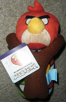 """RED ANGRY BIRDS SLING SHOT PLUSH DOLL PILLOW & THROW BLANKET NEW! 40"""" X 50"""" NEW~"""