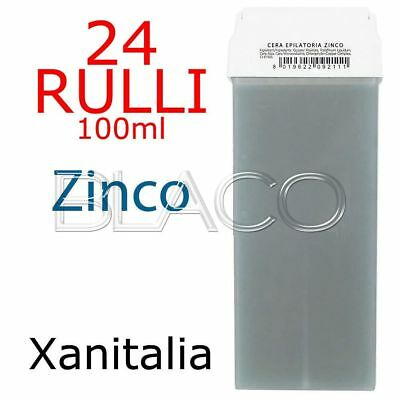 24 Ricariche Ceretta Zinco 100Ml Rullo Cera Depilatoria Xanitalia Cartuccia