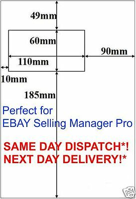 110x60 1000 eBay selling manager pro A4 Paper Integrated Peel off Label  14 F