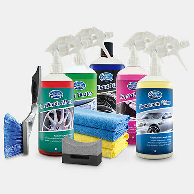 SHOWROOM SHINE by Greased Lightning 1L Ultimate Car Cleaning Pack 10 Piece Kit