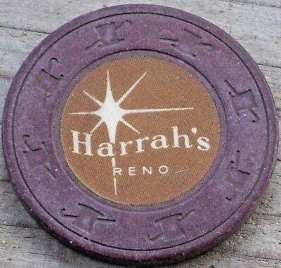 7Th Edt Roulette Chip (B) From The Harrah's Casino Reno Nv
