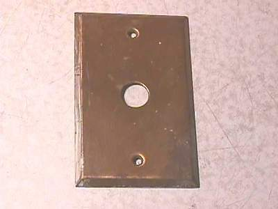Single Button Brass Cover Plate