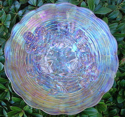 "MINT&PERF~c1910""NORTHWOOD""CARNIVAL GLASS""SRC""ELEC""FROSTY""WHITE""ROSE SHOW""9""PLATE"