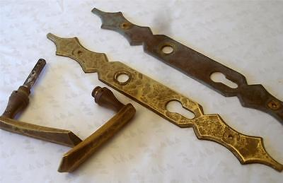 EXQUISITE ANTIQUE FRENCH BRASS HANDLES and mounts c1900