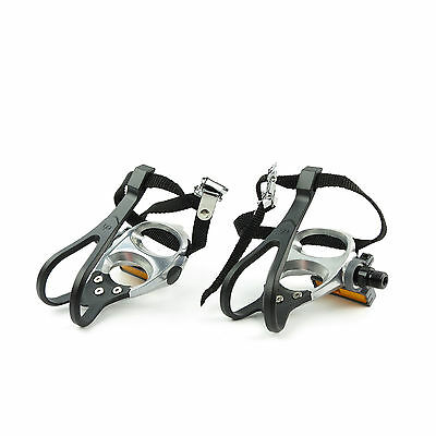 VP-398T Bike Bicycle Aluminum Toe Clip Pedals For Road