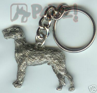 IRISH WOLFHOUND Wolf Hound Dog Fine Pewter Keychain Key Chain Ring