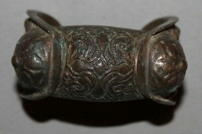 Antique Handcrafted Greek Crusader Bronze Fertility Bracelet