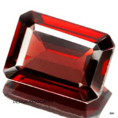 8X6 Mm Emerald Cut Natural Red Garnet Vvs