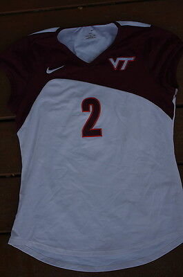 Virginia Tech Hokies Volleyball Med Game Used #2 Jersey CLEARANCE