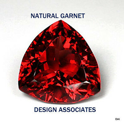 7 Mm Trillion Cut Natural Red Garnet Vvs