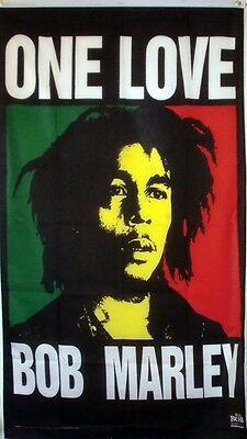 Bob Marley & The Wailers One Love 5X3 Feet Flag Rastafarian Rasta Reggae Exodus