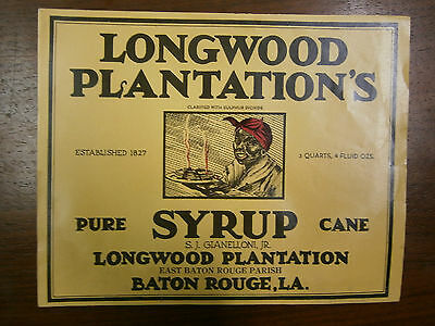 Longwood Plantations Cane Syrup original advertisement