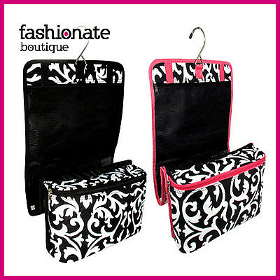 Damask Persian Cosmetic Makeup Travel Bag Hanging Roll Up Train Holder Case HOT!