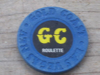 ROULETTE CHIP (DB) FROM THE GOLD COAST CASINO LAS VEGAS NV
