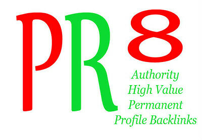 15 Backlinks from PR8 Authority Sites,Permanent,Dofollow,Panda Proofed ! SEO!