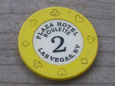 ROULETTE CHIP (2Y) FROM THE PLAZA CASINO LAS VEGAS NV