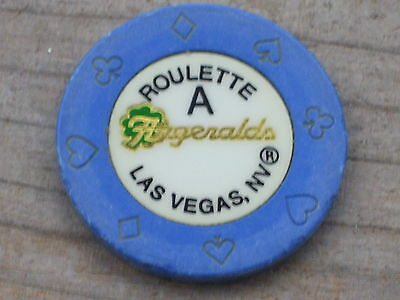 ROULETTE CHIP (AP) FROM FITZGERALD'S CASINO LAS VEGAS NV