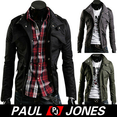 Nwt Trendy Men's Stylish Slim Fit Jackets Coats Hoody in Size XS/S/M/L 3 colors
