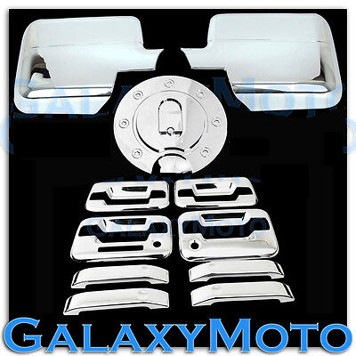 04-08 Ford F150 Chrome Mirror+4 Door Handle+keypad+PSG keyhole+Gas Cover COMBO