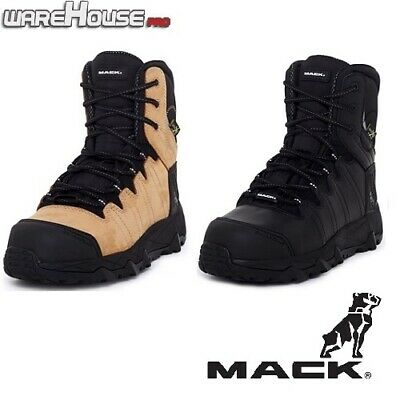 New MACK Blast Leather Work Safety Boot with Side Zip, Steel Toe Bump Cap