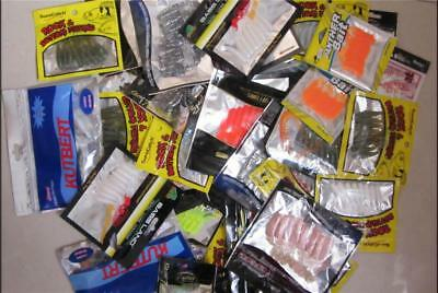 50 X Bulk Assorted Soft Plastics Lures Packs, Fresh & Saltwater Fishing Lures