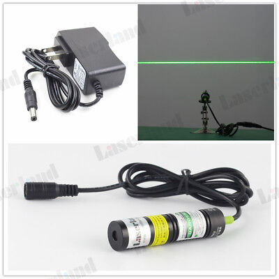 532nm 20mW Green Laser LINE Module Locator for Cutter + adapter  DC3-5V