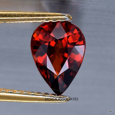 12X8 Mm Pear Cut Natural Red Garnet Vvs