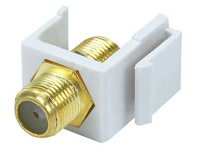 100pcs Blank Insert for Keystone Wall Plate White Snap-In F Type Coax Connector