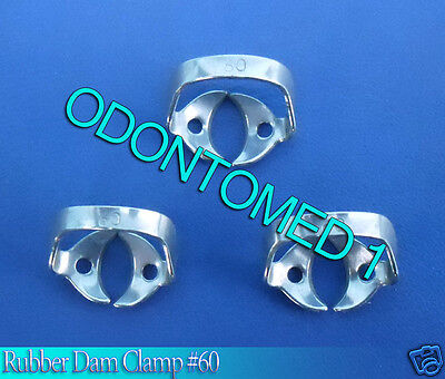 6 Endodontic Rubber Dam Clamp #60 Surgical Dental Instruments
