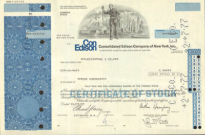 Consolidated Edison Company of New York > World Trade Center stock certificate