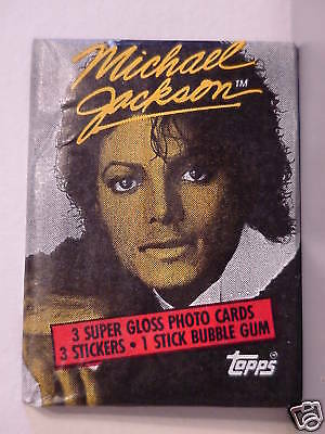 Michael Jackson Trading Cards 1St Series Rare Unopened Wax  Packs