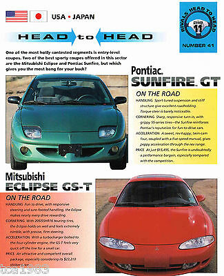 ECLIPSE GS-T vs. Pontiac SUNFIRE GT Road Test Brochure