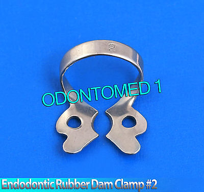 6 Endodontic Rubber Dam Clamp #2 Surgical Dental Instruments