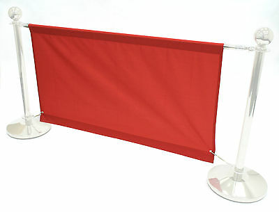 1.6 meter red banners for our cafe barrier systems, shop banners, cafe banners