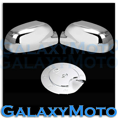 02-09 GMC Envoy Triple Chrome A pair of Mirror Cover+Gas Fuel Tank Cover Combo
