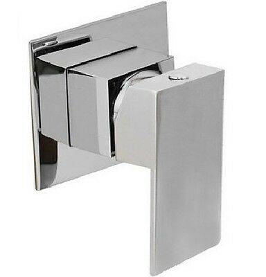 Luxury Square High Quality Bathroom Wall / Bath/  Shower Mixer Tap - 80 Mm Plate
