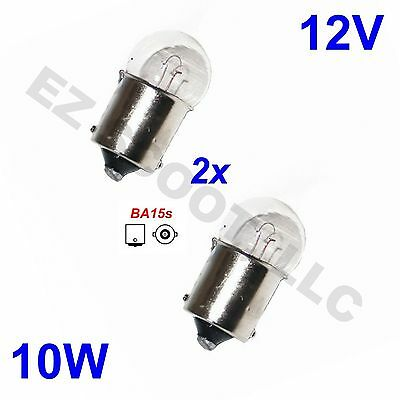 2 Clear Oem Blinker Turn Signal Light Bulbs 12V/10W Gy6 Scooter Moped Jonway Bms