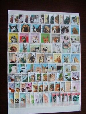 Timbres Chiens : 10 Series Completes Du Monde / Complete Series Stamps Dogs