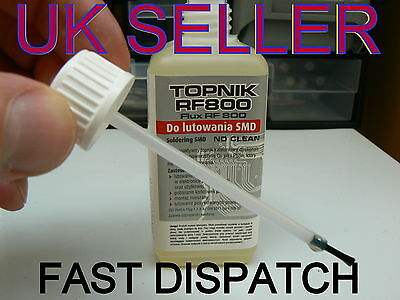 100ml LIQUID FLUX SMD/RMA REWORK, REFLOW, REBALL, CHIP LIFT  NO CLEAN RF800