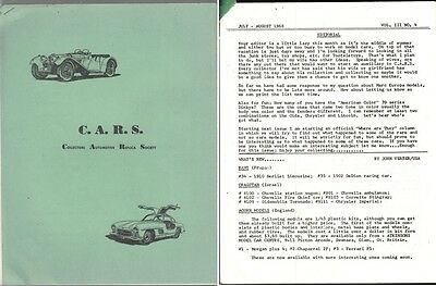 [34550] 1968 COLLECTORS AUTOMOTIVE REPLICA SOCIETY JULY-AUGUST NEWSLETTER