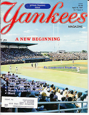 NEW YORK YANKEES BASEBALL MAGAZINE Apr 16 1987 SPRING TRAINING PREVIEW ISSUE OOP