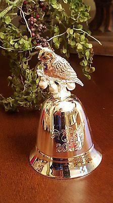 Lenox Annual 2012 Metal  Christmas Musical Bell Partridge in a Pear Tree NEW