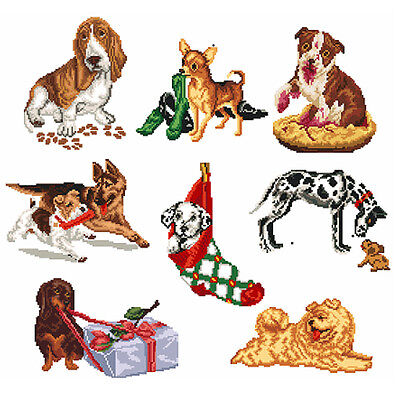 ABC Designs Talking Dogs Machine Embroidery Designs Set in Cross Stitch 5x7 hoop