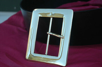 """HIGH Quality Solid Brass 4"""" Buckle and/or Belt for Santa Rennie Pirate SCA LARP"""