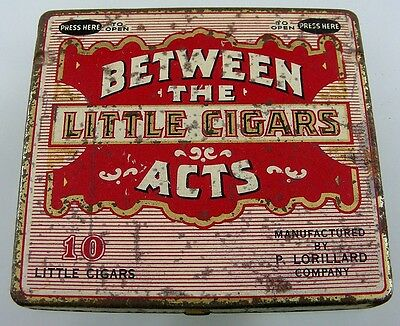 Between The Acts Little Cigars Tin Box P Lorillard Co