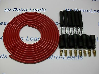 Red 8Mm Performance Ignition Lead Kit Cable For The 6 Cil 4 Meters Ideal Kit Car