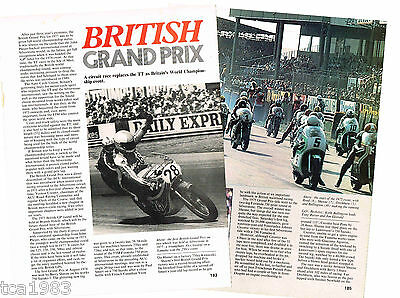 BRITISH MOTORCYCLE GRAND PRIX Article / Photos/Pictures